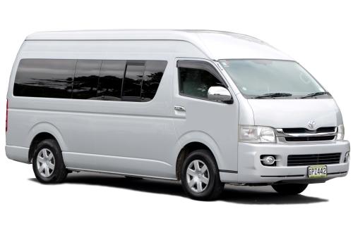 Jumbo Hiace 12 seater minibus for hire