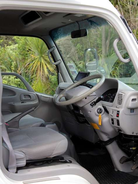 3 tonne truck driver view